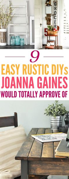 13 DIY Farmhouse Décor Ideas That You Need To Try | Joanna gaines ...