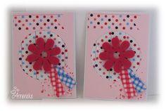 Twee kleine kaartjes met washitape