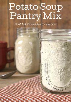 Homemade Dry Mixes, Homemade Spices, Homemade Seasonings, Homemade Soup, Homemade Recipe, Dry Soup Mix, Soup Mixes, Spice Mixes, Mason Jar Mixes