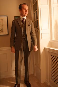 The Danish Chap's Attire Chronicles: The 1967 vintage bespoke brown houndstooth check suit