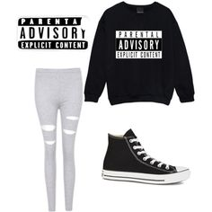 Whatever outfit by alannaxjonnesx on Polyvore featuring polyvore, fashion, style, Converse and CellPowerCases