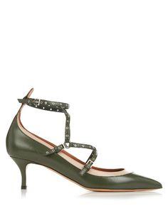 Valentino Love Latch leather pumps
