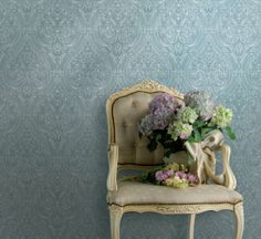 Textile wall paper.