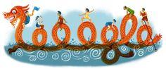 Google Doodle: Dragon Boat Festival 2013