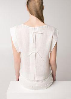 PREMIUM - Knot linen-blend top