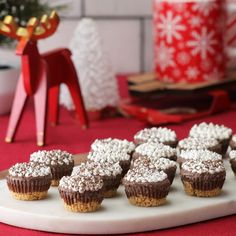 Hot Chocolate Ice Cream Pie Bites Sponsored by Dove Chocolate Frozen Desserts, Holiday Baking, Christmas Desserts, Christmas Treats, Christmas Baking, Just Desserts, Delicious Desserts, Dessert Recipes, Christmas Cookies