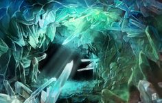 Crystal cave by Nerkin.deviantart.com on @DeviantArt