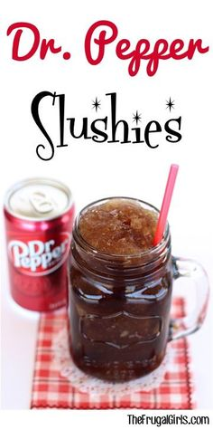 Dr. Pepper Slush Recipe! ~ at TheFrugalGirls.com ~ nothing beats ice cold Dr. Pepper Slushies on a hot day! The perfect refreshing drink for kids and adults! #slushy #recipes #thefrugalgirls