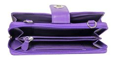 Leather Purple Wallet Purse from The Purple Store! Purple Haze, Shades Of Purple, 50 Shades, Fashion Styles, Fashion Ideas, Coach Bags Outlet, Purple Purse, Purple Jewelry, All Things Purple