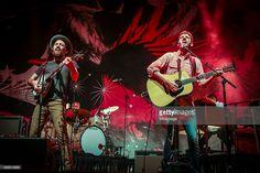 Scott Avett and Seth Avett of The Avett Brothers perform on Day 2 of the CityFolk Festival at Lansdowne Park on September 17, 2015 in Ottawa, Canada.