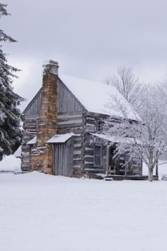 Our Winter Cabin: cabin in the snow Snow Cabin, Winter Cabin, Cozy Cabin, Winter Snow, Cozy Winter, Winter House, Old Cabins, Log Cabin Homes, Cabins And Cottages