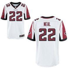 Men's Atlanta Falcons #22 Keanu Neal Nike White Elite 2016 Draft Pick Jersey