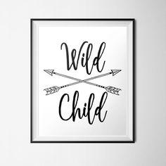 Wild Child Print Arrows Printable Free Spirit INSTANT