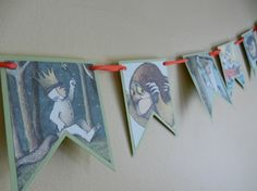 Where the wild things are banner.  My favorite banner yet!  Etsy.