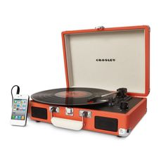 Crosley Cruiser Turntable - Turquoise Love the rich, warm sound of vinyl, but wish it was a more moveable music format? Put down the iPod and mobilize your music with the Crosley Cruiser three-speed p Portable Record Player, Record Players, Walmart, Stereo Speakers, Dot And Bo, Joss And Main, Ipod, Cruise, Just For You