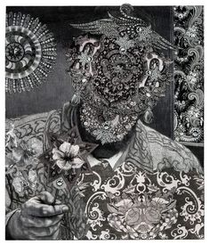 """Bruce Conner - collage """"Psychedelicatessen Owner'', 1990"""