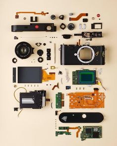 Leica M, Leica Camera, Things Organized Neatly, Deconstruction, Installation Art, Photo And Video, Gadgets, Instagram, Cinema