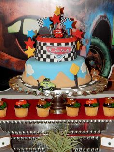 Disney Pixar Car Theme Birthday Party | CatchMyParty.com #chiquitaparty