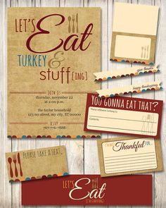 Printable Thanksgiving Invitation and Party Pack ... | BBQ Invite Ide…