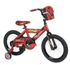 """16"""" Huffy Disney Cars Boys' Bike with Tool Kit by Huffy. $123.89. Steel frame. Training wheels. Coaster brakes. 1 speed. Disney Cars design. Riding the 16"""" Huffy Disney Cars Boys' Bike is only half the fun. The included tool kit comes complete with play tools that fit the parts on the bike. Boys will feel like they are really working on the bike as they use the play socket set, hearing it click as they turn the sockets on the bike bolts. They'll have fun checking t..."""