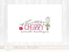 Cake Logo Design Whisk logo Bakery Logo Sweets Logo Cherry Cake Logo Boutique Logo Watermark