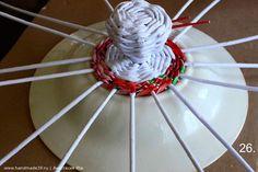 Круглая плетёная корзина с крышкой из газетных трубочек – мастер-класс. Авторские работы плетёные из бумажной лозы заказать, купить, Калининград