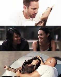 Paul Walker, Jordana Brewster, Sung Kang, Gal Gadot, Michelle Rodriguez, and Vin Diesel