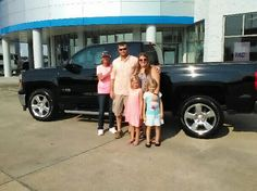 Adam and Kelli Davenport with their new 2015 Chevy Silverado, thanks Cathy Kay!