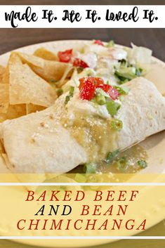 We are Mexican food lovers and this chimichanga recipe is an absolute favorite. We have it almost weekly. Which unfortunately means that I am always looking for variety. My eldest son is a taco lover and the middle is a quesadilla lover. My husband loves enchiladas and I love just a little bit of everything. Chimichangas aren't a regular in our menu. Mostly because I used to deep fry these babies.  Now that we bake them, we have them more often. Delicious Dinner Recipes, Great Recipes, Healthy Recipes, Savoury Recipes, Delicious Food, Yummy Recipes, Food Dishes, Main Dishes, Chimichanga Recipe