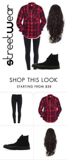 """""""Untitled #16"""" by lightskinsquad12 ❤ liked on Polyvore featuring Paige Denim, Aéropostale and Converse"""
