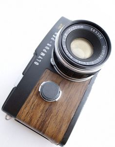 Olympus Pen F | The delightfully pretty Olympus Pen F in black and wood finish.