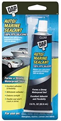 Amazon Com Dap 00694 2 8 Ounce Silicone Rubber Auto Marine Sealant Clear Home Improvement In 2020 Marine Sealant Sealant Clear Silicone