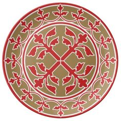 Medieval romanesque wreath of leaves porcelain plates