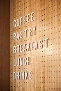 Abbots restaurant bar design cafe menu board with letters coke Signage Design, Menu Design, Cafe Design, Store Design, Menu Board Design, Interior Design, Café Restaurant, Restaurant Design, Modern Restaurant