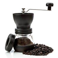 Morning Ground Manual Coffee Grinder with Lid and Cleaning Brush - Used Once. #MorningGround