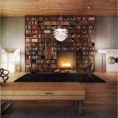 Repisas, libros y felicidad.