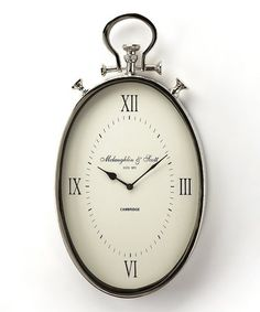 Another great find on #zulily! Oval Pocket Watch Wall Clock #zulilyfinds