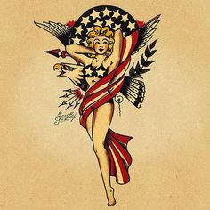 sailor jerry pinup girl coasters by cashscloset on Etsy