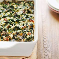 "For a tasty and easy-to-make Mother's Day brunch dish, try Terry's Spinach Casserole from FamilyFun's ""Moms' Best Recipes"" feature!"