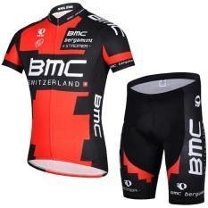 Men's Short Sleeve Cycling Jersey and Bib Shorts Set Outdoor Sports Pro Team