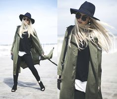 via LookBook Long Trench Coat, Zara Jeans, Indie Fashion, White Tees, Missguided, Autumn Winter Fashion, My Style, Indie Style, Couture