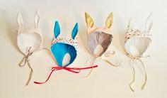 more bunny hats Diy Headband, Ear Headbands, Rabbit Illustration, Bunny Hat, Animal Ears, Cute Hats, Doll Hair, Diy Doll, Fabric Art