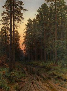 Twilight, (1896) Ivan shishkin (Russian, 1832 – 1898)