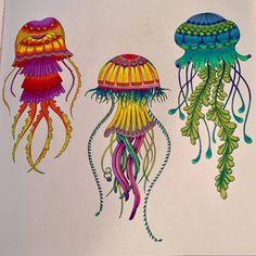 Jellyfish Inspirational Coloring Pages Inspiracao Coloringbooks Livrosdecolorir Jardimsecreto Secretgarden Florestaencantada
