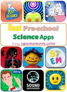Best Science Apps for Preschool Kids with fun interactive science activities and learning ideas of hands-on learning games. STEM Resource for preschool teachers and parents. Preschool Science, Preschool Learning, Science For Kids, Science Activities, In Kindergarten, Activities For Kids, Learn Science, Preschool Teachers, Science Experiments