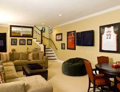 traditional basement by Cynthia Lynn Photography