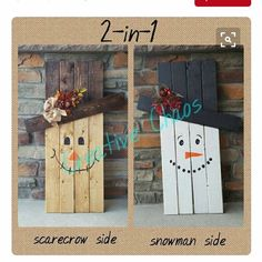 50 Best DIY Snowman Christmas Decoration Ideas Frosty the Snowman is the next favorite Christmas character, not just of the kids but also of the adults. If you knew the song about him very well, he is described as a jolly, Snowman Christmas Decorations, Snowman Crafts, Christmas Snowman, Holiday Crafts, Christmas Crafts, Diy Snowman Gifts, Wooden Halloween Decorations, Wood Snowman, Rustic Christmas