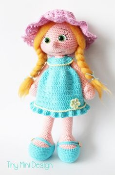 Blue Dress Doll (Body and clothes) ♡
