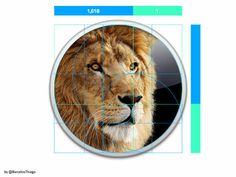 MacOS X Lion Logo - Golden ratio