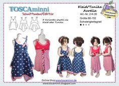 2K30 Ebook Kinderkleid Aurelia Gr. 80-152 von TOSCAminni E-Books und Schnittmuster für Kindermode auf DaWanda.com